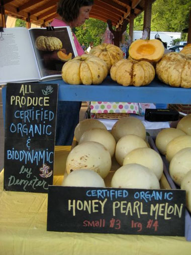 Biodynamic produce market
