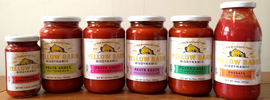 Yellow Barn Biodynamic Pasta Sauces