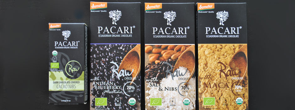 Pacari Biodynamic Chocolate Bars